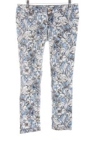 Gucci Five-Pocket-Hose blau-weiß Allover-Druck Casual-Look