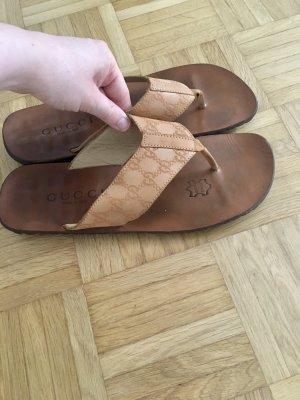 Gucci Flip flop sandalen bruin-cognac