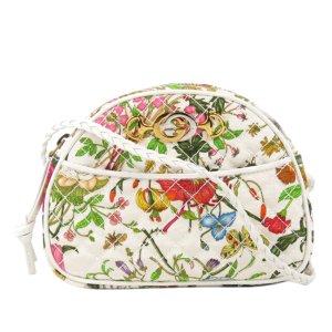 Gucci Flora Trapuntata Mini Canvas Crossbody Bag