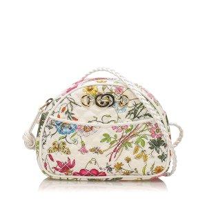 Gucci Floral Trapuntata Nylon Crossbody Bag