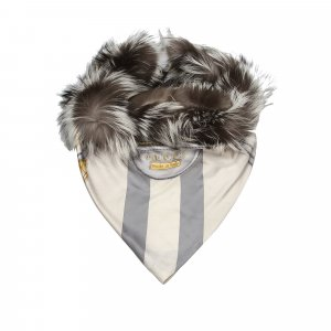 Gucci Fox Fur Silk Scarf