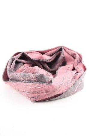 Gucci Écharpe à franges rose-gris clair lettrage imprimé style d'affaires