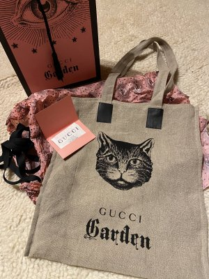 Gucci Sacchetto di tela nero-marrone-grigio