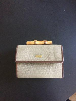 Gucci Portefeuille gris brun-brun foncé