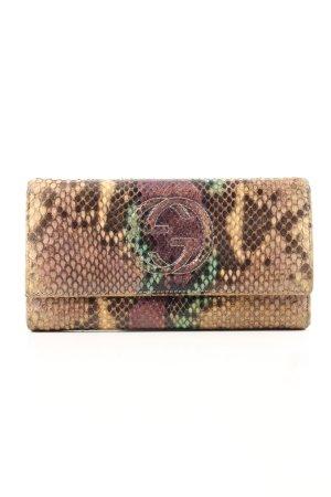 Gucci Portmonetka brązowy Zwierzęcy wzór W stylu biznesowym