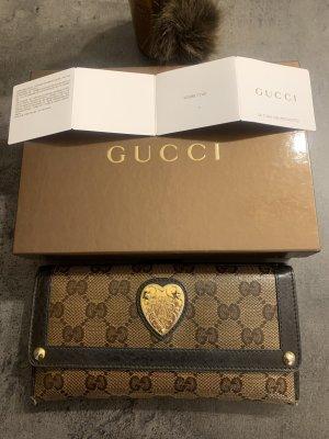 Gucci Portemonnee bruin-donkerbruin