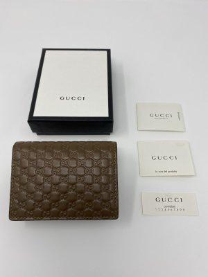Gucci Geldbörse Continental Portmonee Portemonnaie Brieftasche Braun Micro GG ❤️