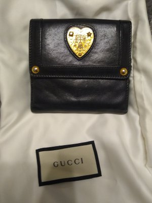 Gucci Wallet black-gold-colored