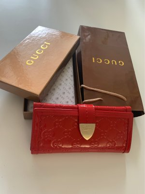 Gucci Wallet red-gold-colored leather