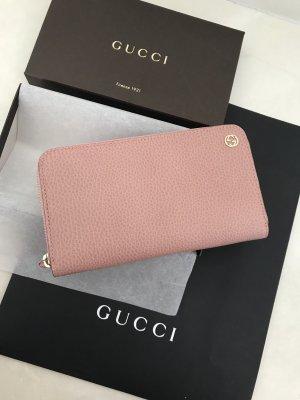 Gucci Portemonnee stoffig roze
