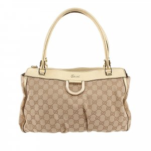 Gucci GG Canvas Abbey-D Ring Tote Bag