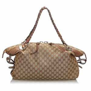 Gucci GG Canvas Bamboo Bar Shoulder Bag