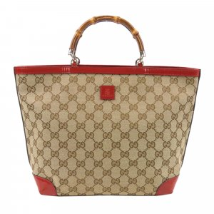 Gucci GG Canvas Bamboo Handbag
