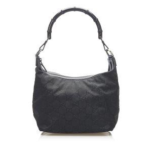 Gucci GG Canvas Bamboo Shoulder Bag