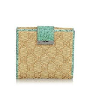 Gucci GG Canvas Bi-Fold Wallet