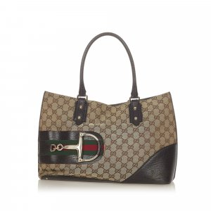 Gucci GG Canvas Hasler Tote Bag