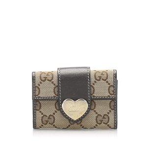 Gucci GG Canvas Heart Key Holder