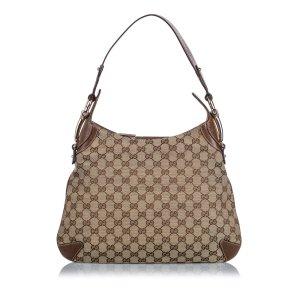Gucci GG Canvas Horsebit Creole Shoulder Bag