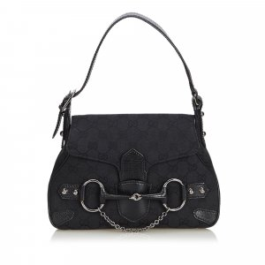 Gucci GG Canvas Horsebit Handbag