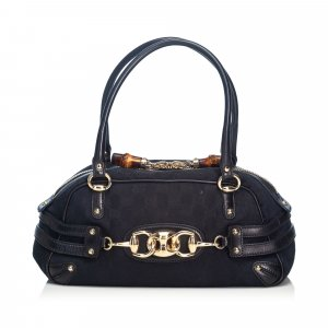 Gucci GG Canvas Horsebit Wave Handbag