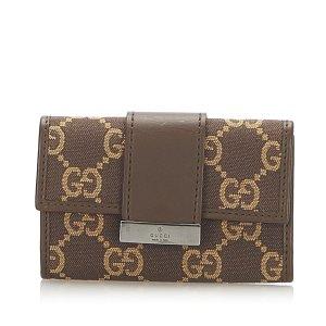 Gucci Estuche para llaves marrón oscuro
