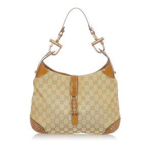 Gucci GG Canvas Nailhead New Jackie Shoulder Bag