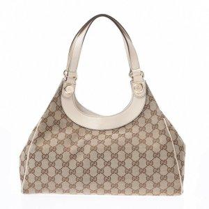 Gucci Shoulder Bag brown textile fiber