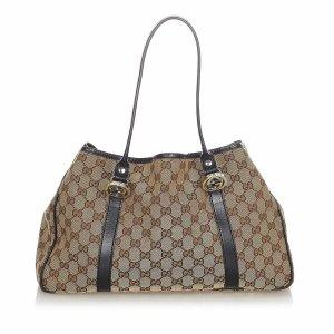 Gucci GG Canvas Twins Tote Bag