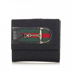 Gucci GG Canvas Web Hasler Small Wallet
