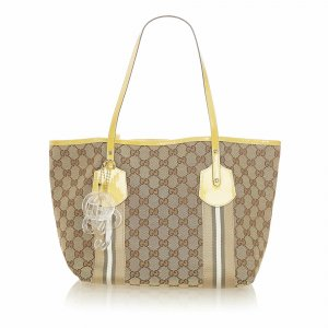 Gucci GG Canvas Web Jolie Tote Bag