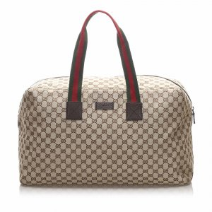 Gucci GG Canvas Web Travel Bag