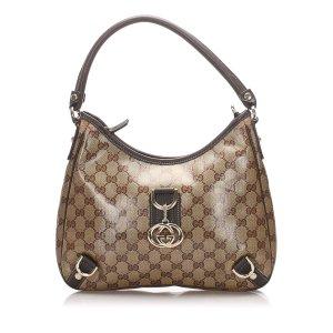 Gucci GG Crystal Abbey D Ring Shoulder Bag