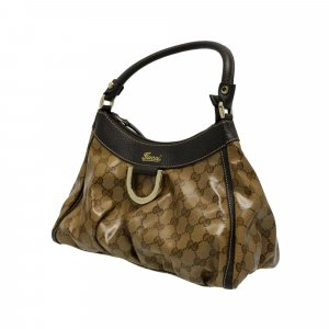 Gucci Sac porté épaule marron clair faux cuir