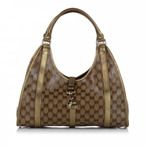 Gucci Sac porté épaule brun chlorofibre
