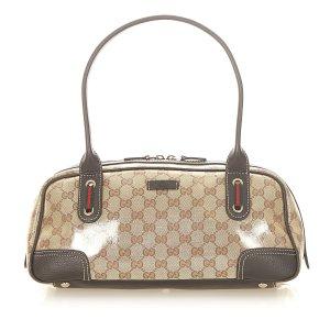 Gucci Shoulder Bag beige polyvinyl chloride
