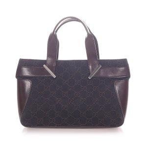 Gucci Handbag dark grey cotton