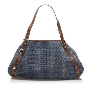 Gucci Bolso de compra azul Algodón