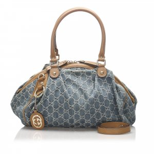Gucci GG Denim Sukey Satchel