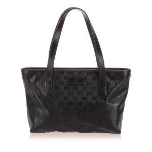Gucci Bolso de compra negro clorofibras