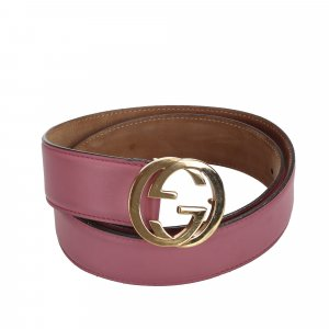Gucci Belt pink leather