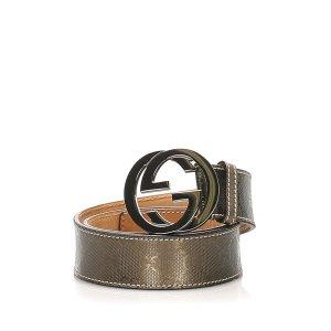 Gucci Belt dark grey leather