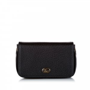 Gucci GG Leather Wallet On Chain