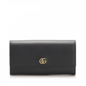 Gucci GG Marmont Continental Leather Long Wallet