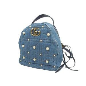 Gucci Plecak niebieski Bawełna
