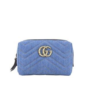 Gucci Sac seau bleu coton