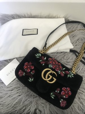 Gucci GG Marmont embroidered velvet mini bag
