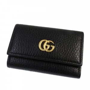 Gucci Etui voor sleutels zwart Leer