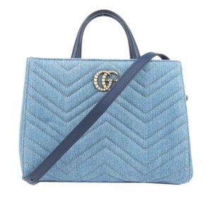 Gucci Sacoche bleu coton