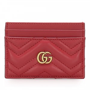 Gucci GG Marmont Matelasse Leather Card Holder