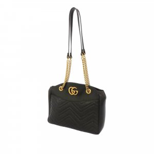 Gucci Shoulder Bag black leather